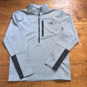 The North Face half-zip Pullover gray/black